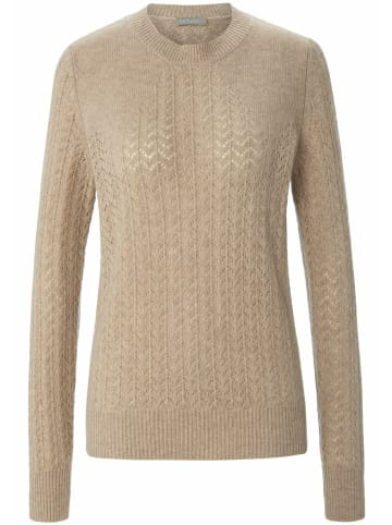 Include Pullover Rundhals-Pullover in taupe-melange