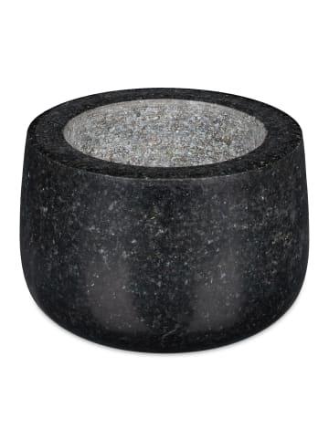 Relaxdays Mörser mit Stößel in Schwarz - Ø 12 cm