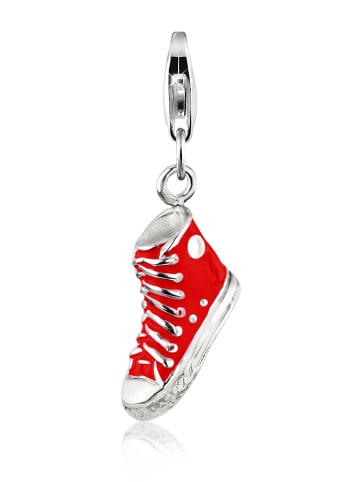 Nenalina Charm 925 Sterling Silber Schuh in Rot