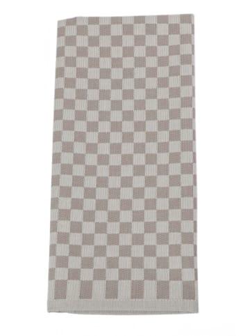 "Framsohn 4er Set: Geschirrtuch ""Karo"" in Braun - (L) 75 x (B) 50 cm"