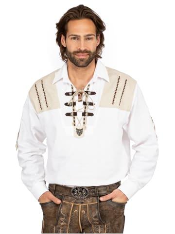 OS-Trachten Hemd Langarm 120011-1011-1 weiß