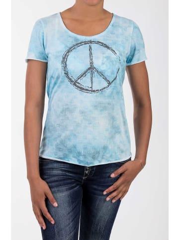 BLUE MONKEY BLUE MONKEY BLUE MONKEY T-Shirt mit Peace Druck in türkis