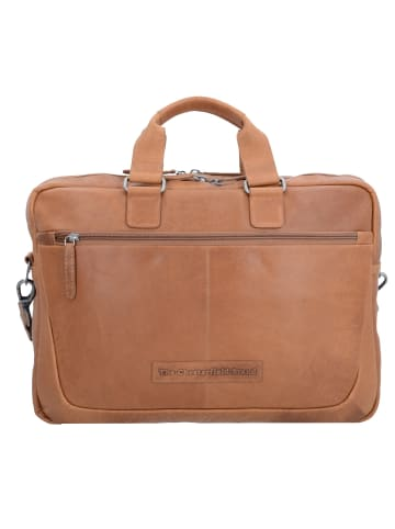 The Chesterfield Brand Wax Pull Up Seth Aktentasche Leder 40 cm Laptopfach in cognac