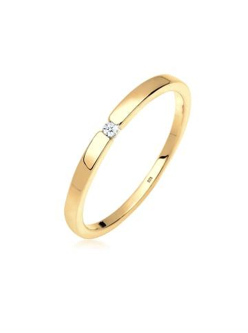 DIAMORE Ring 925 Sterling Silber Solitär-Ring, Verlobungsring in Gold