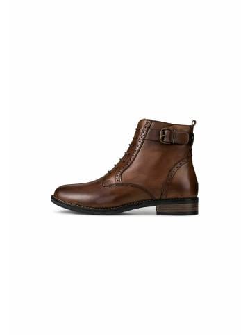 COX Schnürstiefeletten Schnür-Boots in dunkelbraun