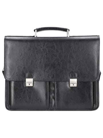 Alassio Veneto Aktentasche Leder 42 cm Laptopfach in schwarz