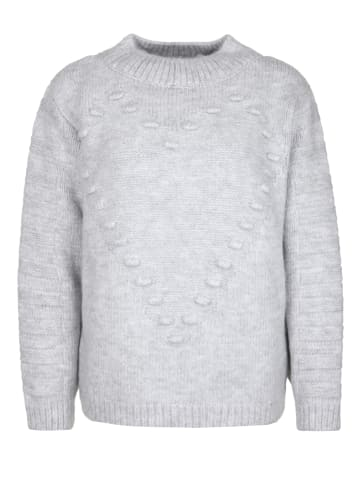Miss goodlife Strickpullover Heart Knitted in grey