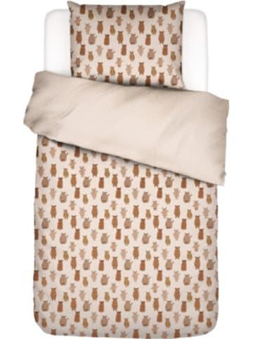 Covers & Co Wende-Kinderbettwäsche Bär, Baumwolle, braun, 135 x 200 cm + 80 x 80 cm