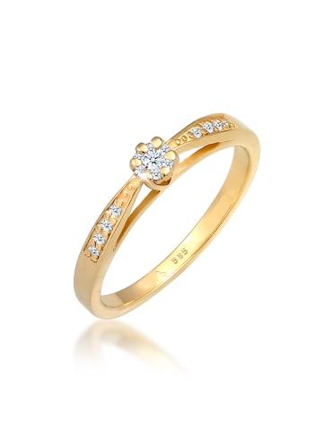 DIAMORE Ring 585 Gelbgold Verlobungsring in Gold
