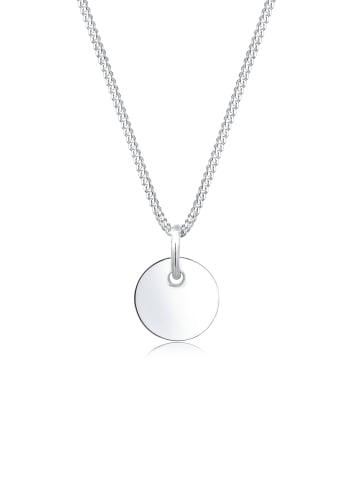 Elli Halskette 925 Sterling Silber Geo, Kreis in Silber