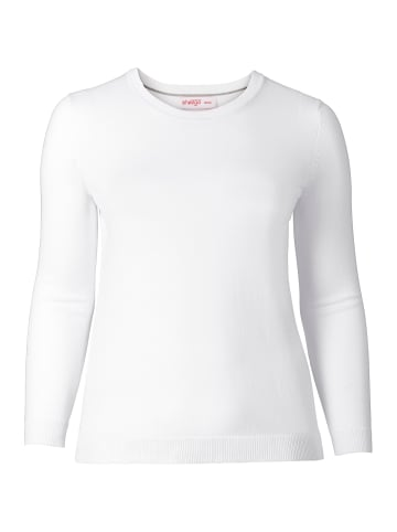 Sheego Pullover in weiß