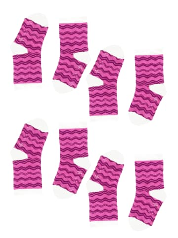 Tag Socks Unisex Kindersocken 4-Paar Multipack Verschiedene Designs in Pink