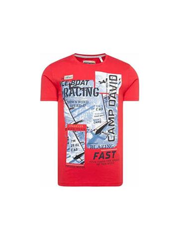 CAMP DAVID  Rundhals T-Shirt in rot
