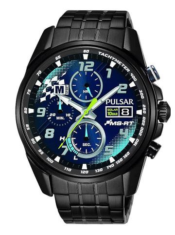 Pulsar Solar Herren-Chronograph M-Sport Ford World Rally Team Blau / Schwarz