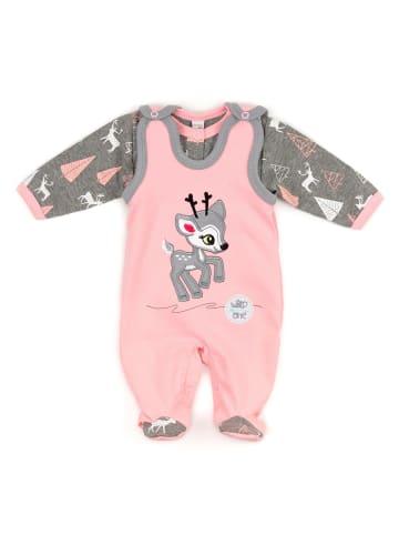Koala Baby 2tlg Set Strampler + Shirt Rentier - by Koala Baby in rosa und grau