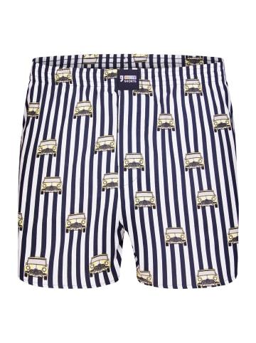 Happy Shorts Boxershorts Motive in Blau/Weiß