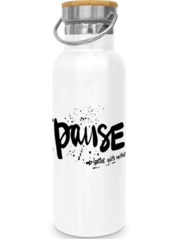 "Design@Home Edelstahl Isolier Flasche ""Pause"", 0,5l"