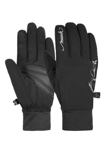 Reusch Fingerhandschuhe Saskia Touch-tec in black / silver