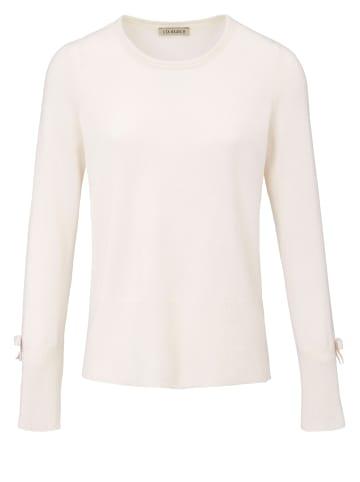 UTA RAASCH Rundhals-Pullover Verspielter, weicher Pullover in offwhite