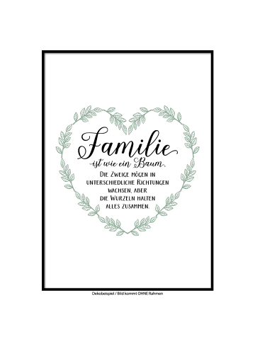 "SMART ART Kunstdrucke Kunstdruck / Poster ""Familienzusammenhalt"" / A4 oder A3"