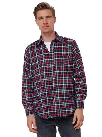 SECOLO Hemd Kariertes Flanell Holzfällerhemd Checkshirt in Rot