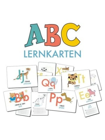Nova MD ABC-Lernkarten der Tiere, Bildkarten, Wortkarten, Flash Cards mit Groß- und Kleinbuchstaben Lesen lernen mit Tieren für Kinder im Kindergarten und der Grundschule