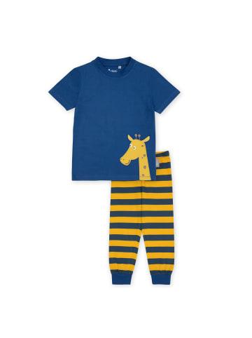 "Sigikid Pyjama ""Giraffe"" in Blau / Gelb"