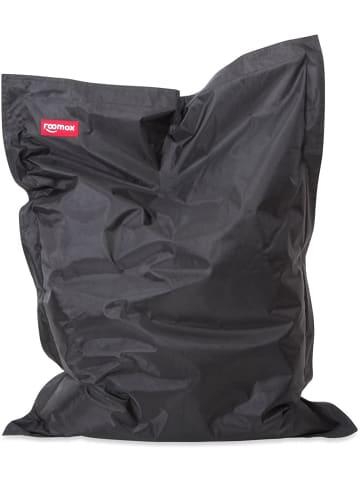 Roomox  Junior Sitzsack Original - Großer Sitzsack 130 x 100 x 30 cm , schwarz