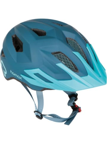Hamax Fahrradhelm Flow with rear light, BLUE/TURQUOISE 52-57 cm