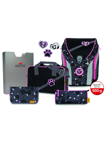 DerDieDas ErgoFlex Max Buttons Schulranzen-Set 5tlg. in pink panda