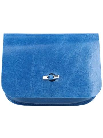 B.belt Gürteltasche Leder 17 cm in blau