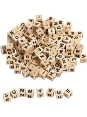 Eduplay Buchstabenwürfel Holz zum Auffädeln, 300 Stück
