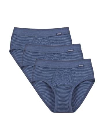 Ammann Slip Unterhose mit Eingriff 3er Pack Jeans in Blau