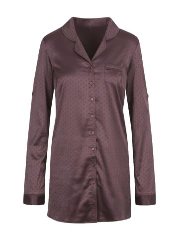 Linga Dore Pyjama Kleid Satin in Violett