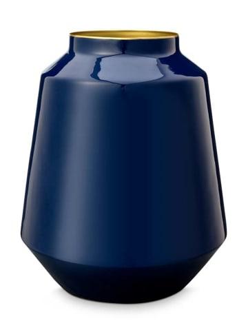 "PiP Studio Vasen ""Metal Blue"" in Blau - 29cm"
