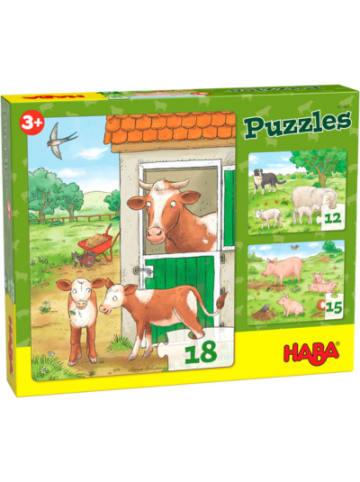 Haba 305884 Puzzles Bauernhoftierkinder - 12/15/18 Teile