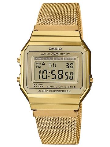 Casio Vintage Damen-Digitaluhr Anthrazit / Gold