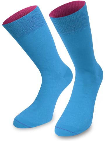 Normani 1 Paar Socken Bi-Color in Türkis/Beere