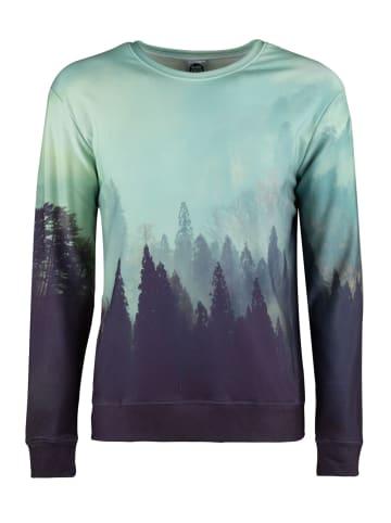 Mr GUGU & MISS GO Langarm-Sweatshirt Old Forest in gloomy green