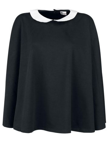 Pussy Deluxe Poncho Collar Poncho in schwarz