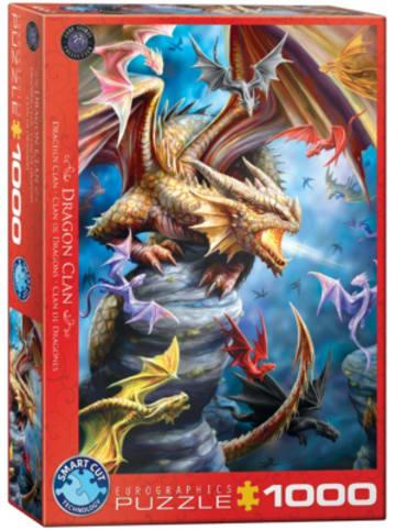 Eurographics Puzzle 1000 Teile-Drachen Clan von Ann Stokes