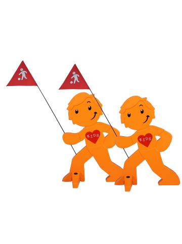 StreetBuddy StreetBuddy  Warnfigur für Kindersicherheit in Orange, 2-er Pack