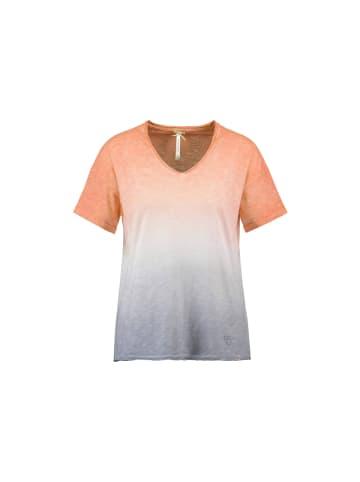 KEY LARGO V-Kragen T-Shirt in orange