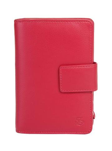 Szuna Geldbörse mit Reißverschluss in rot