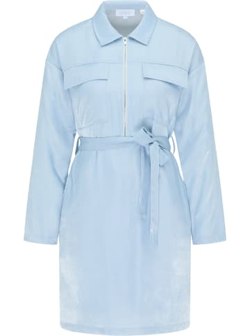 Usha BLUE LABEL Hemdblusenkleid in Hellblau