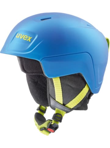 Uvex Skihelm manic pro, blue-lime met mat