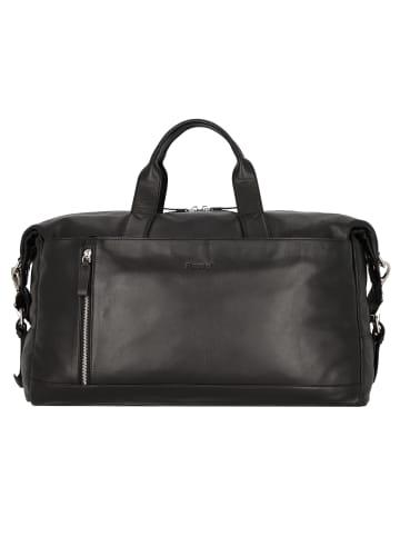 Alassio Topo Weekender Reisetasche Leder 50 cm in schwarz