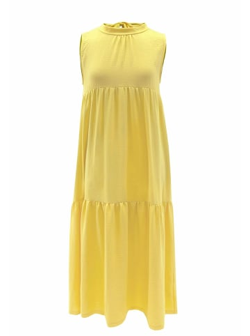 Wisell Sommerkleid Sommerkleid mit Schleife im Rücken in gelb