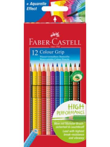Faber-Castell Buntstifte COLOUR GRIPwasservermalbar, 12 Farben
