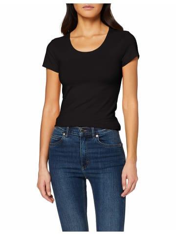 ONLY Rundhals T-Shirt in schwarz